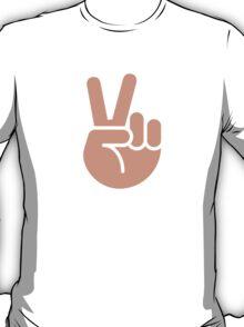 Victory Hand Twitter Emoji T-Shirt