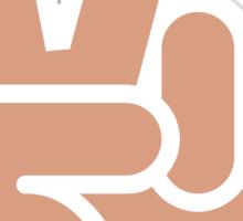 Victory Hand Twitter Emoji Sticker