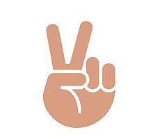 Victory Hand Twitter Emoji by emoji