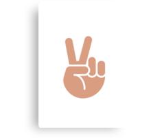 Victory Hand Twitter Emoji Canvas Print