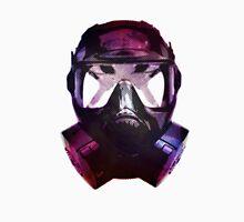 Mercury-Coated Gas Mask Mens V-Neck T-Shirt