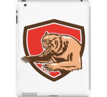 Grizzly Bear Angry Shield Retro iPad Case/Skin