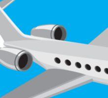 Commercial Light Passenger Airplane Circle Retro Sticker