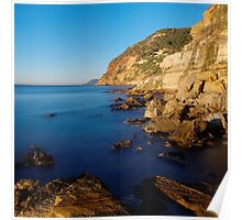 Winter morning at Bau Rouge beach Poster