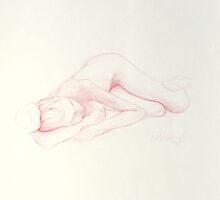 Girl resting 2 by cedelle lochner