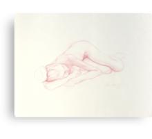 Girl resting 2 Canvas Print