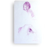 Girl x 2 Canvas Print