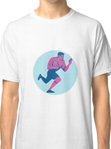 Rugby Player Fend Off Circle Retro Classic T-Shirt