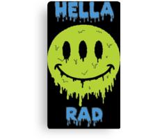 Hella Rad Smiley Face Canvas Print