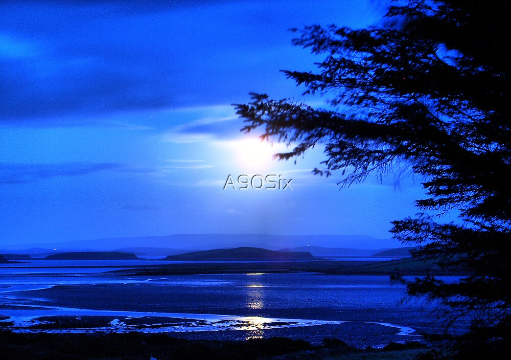 Sea of Tranquility - Moonlight in Mulranny by A90Six