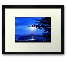 Sea of Tranquility - Moonlight in Mulranny Framed Print