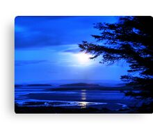Sea of Tranquility - Moonlight in Mulranny Canvas Print