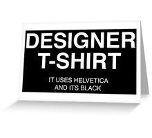 Designer Shirt Greeting Card