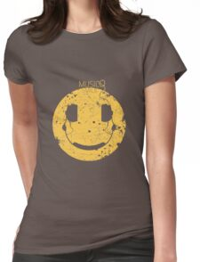 Music Smile V2 Womens Fitted T-Shirt