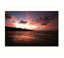 sunset at patong Art Print