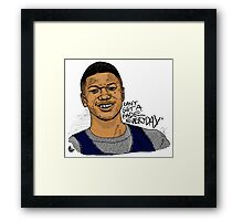 Jalen Rose - Can't Get A Fade Everyday  Framed Print