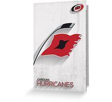 Carolina Hurricanes Minimalist Print Greeting Card