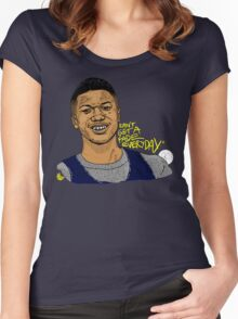 Jalen Rose - Can't Get A Fade Everyday (ALT) Women's Fitted Scoop T-Shirt
