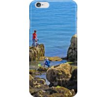 Fishing from the Rocks, Seaview iPhone Case/Skin