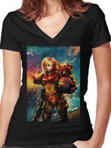 Samus Women's Fitted V-Neck T-Shirt
