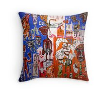 The Boxer and the Shopping Trolley Throw Pillow