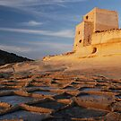 Xlendi Tower, salt pans by narabia
