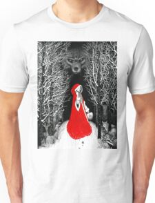 Red Riding Hood and the Big Bad Wolf Unisex T-Shirt