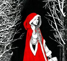 Red Riding Hood and the Big Bad Wolf Sticker
