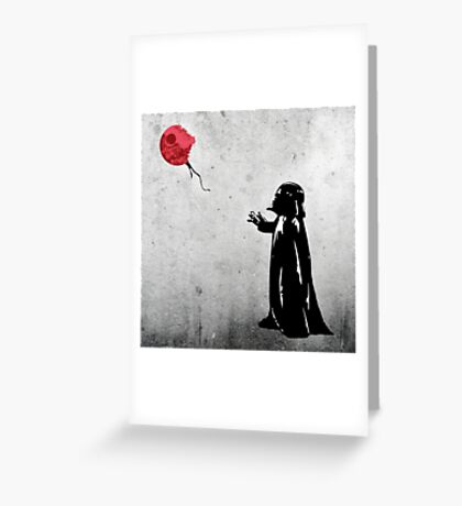 Little Vader Greeting Card