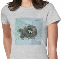 Bird Nest Womens Fitted T-Shirt
