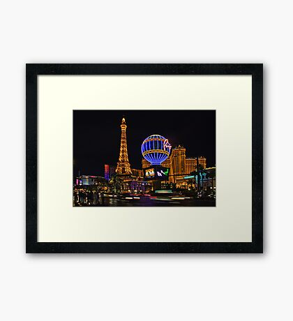 Eiffel Tower in LV Framed Print