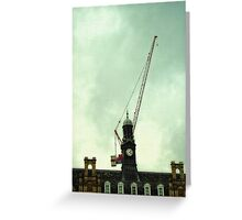 the crane building Greeting Card
