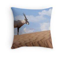 Arabian Orynx Throw Pillow