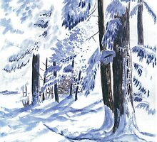 Winter Wonderland - Watercolor by Gordon Pegler
