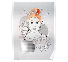 Red Headed Portrait Poster