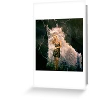 Caught by words Greeting Card