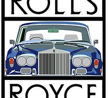 Rolls Royce Silver Shadow logo (White) by Rorymacve