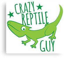 Crazy reptile Guy Canvas Print