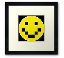 Pixel Smile Framed Print