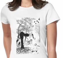 Winter Witch Womens Fitted T-Shirt