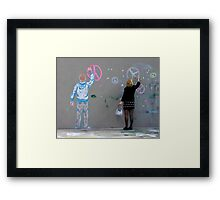 Terry Tagging Framed Print