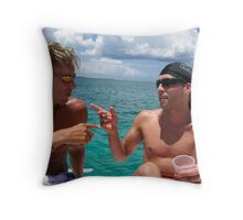 You should go to the running of the bulls! Throw Pillow