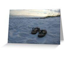 flipflops on gulf coast Greeting Card