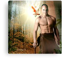 The Great Outdoors Man Canvas Print