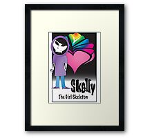 Skelly Character Card (front) Framed Print