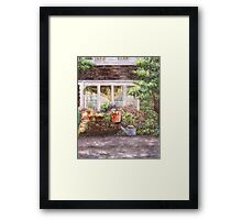 Flower Pots and a Flower Barrel Framed Print