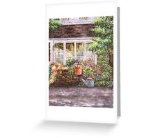 Flower Pots and a Flower Barrel Greeting Card