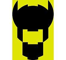 Batman Design Black Photographic Print