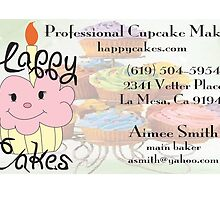 Happy Cakes Business Card by Aimee Lee Smith