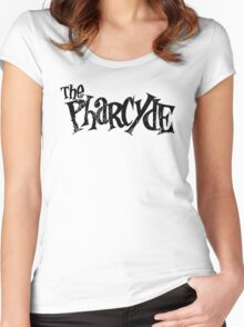 The Pharycide Black Women's Fitted Scoop T-Shirt